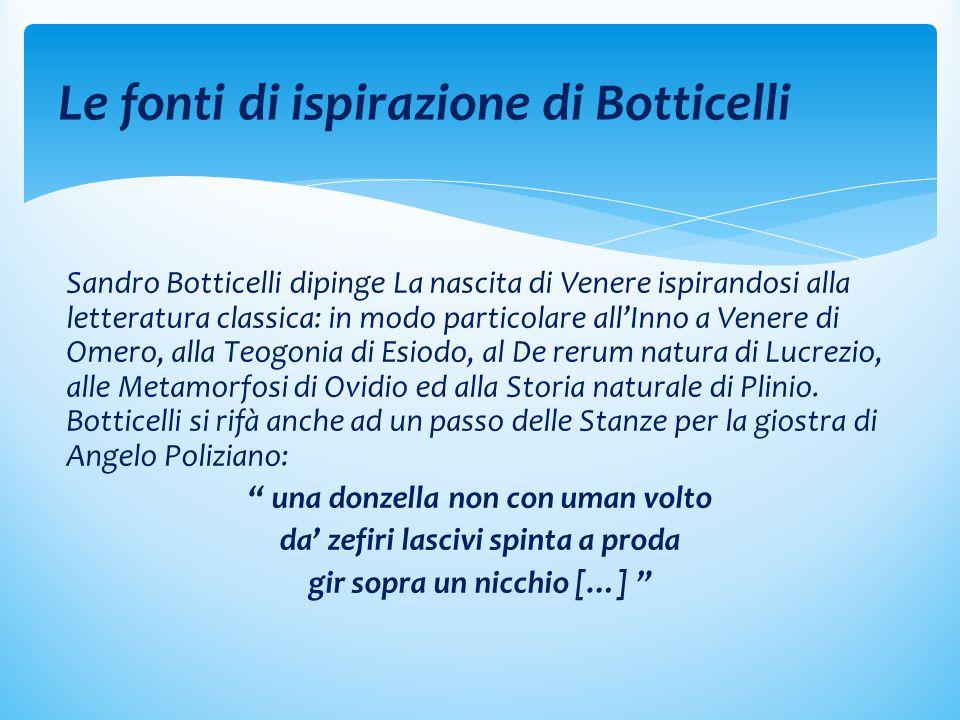 Le fonti di ispirazione di Botticelli