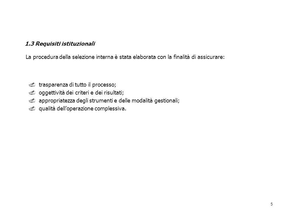 1.3 Requisiti istituzionali