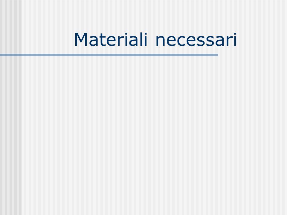Materiali necessari