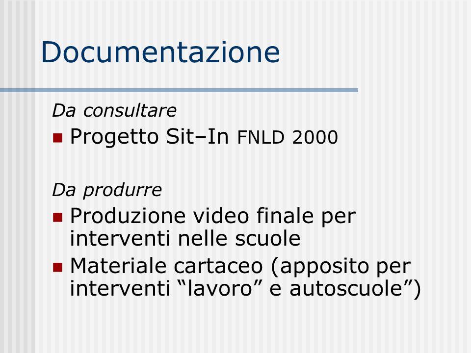 Documentazione Progetto Sit–In FNLD 2000