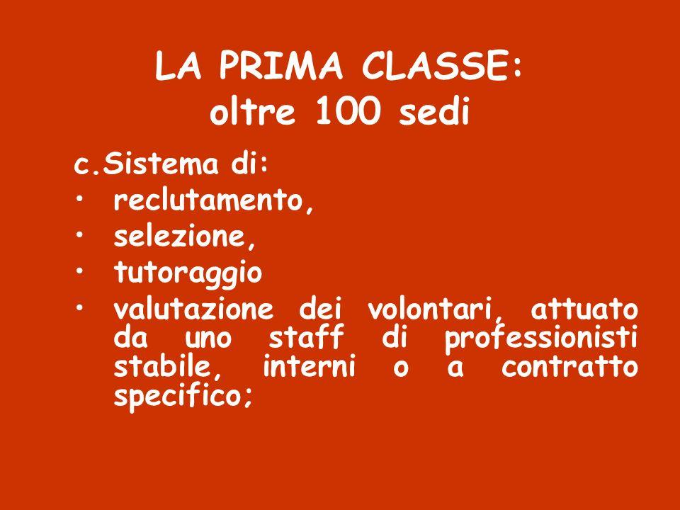 LA PRIMA CLASSE: oltre 100 sedi
