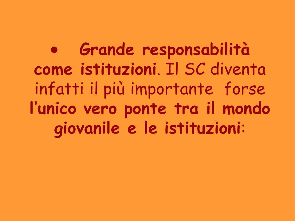 ·. Grande responsabilità come istituzioni