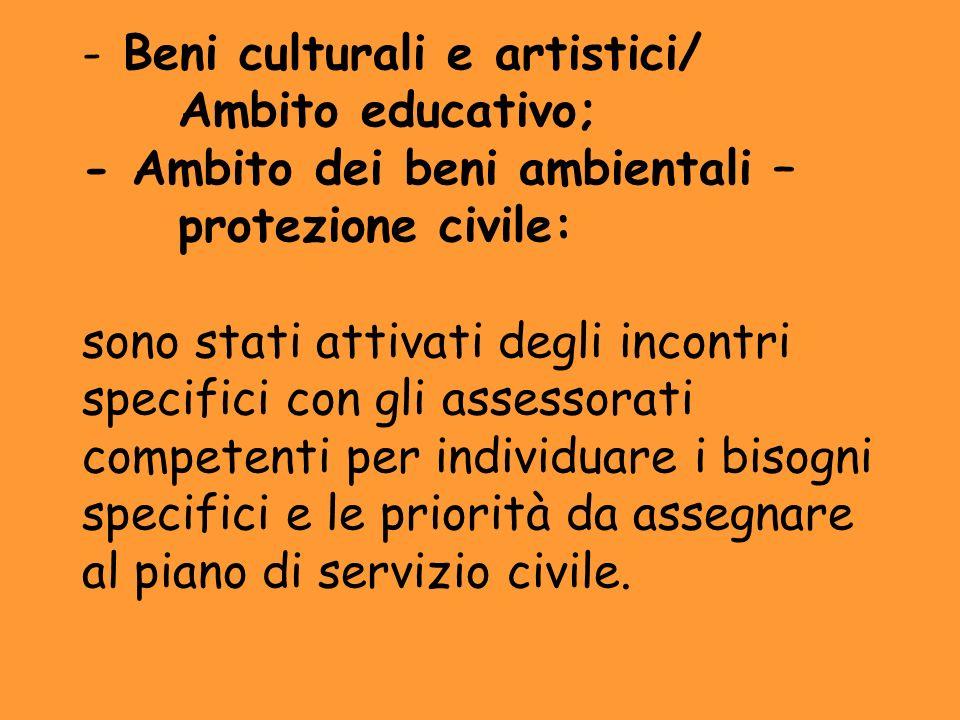 Beni culturali e artistici/