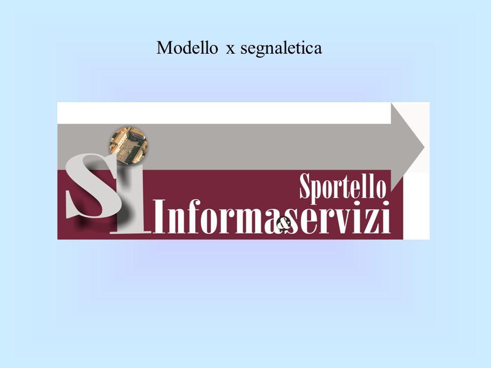 Modello x segnaletica