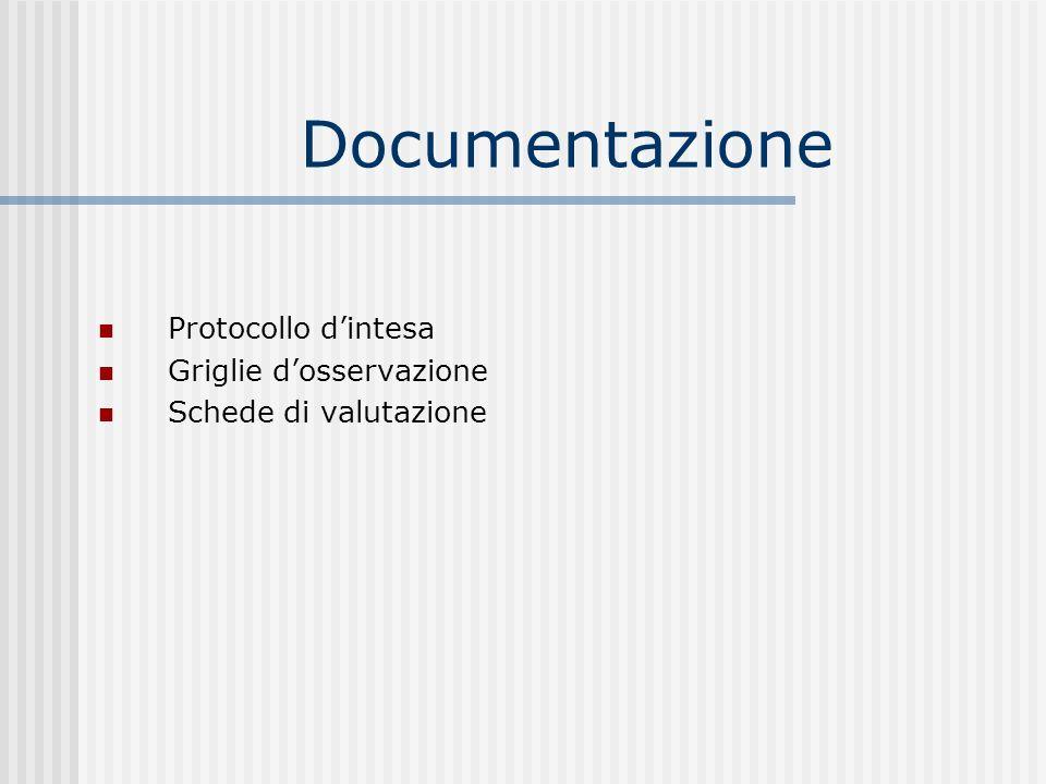 Documentazione Protocollo d'intesa Griglie d'osservazione