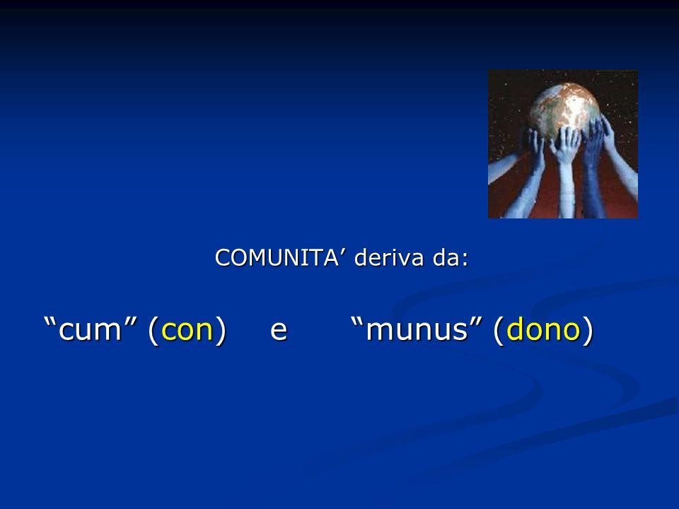 cum (con) e munus (dono)