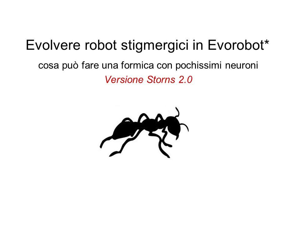 Evolvere robot stigmergici in Evorobot*