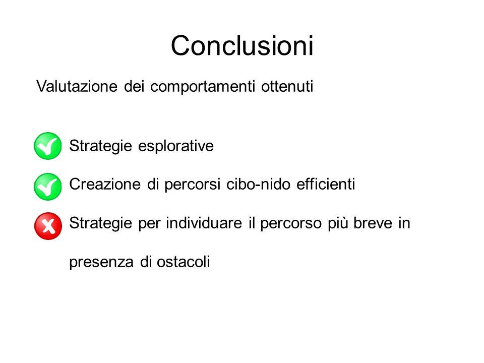 Conclusioni Valutazione dei comportamenti ottenuti