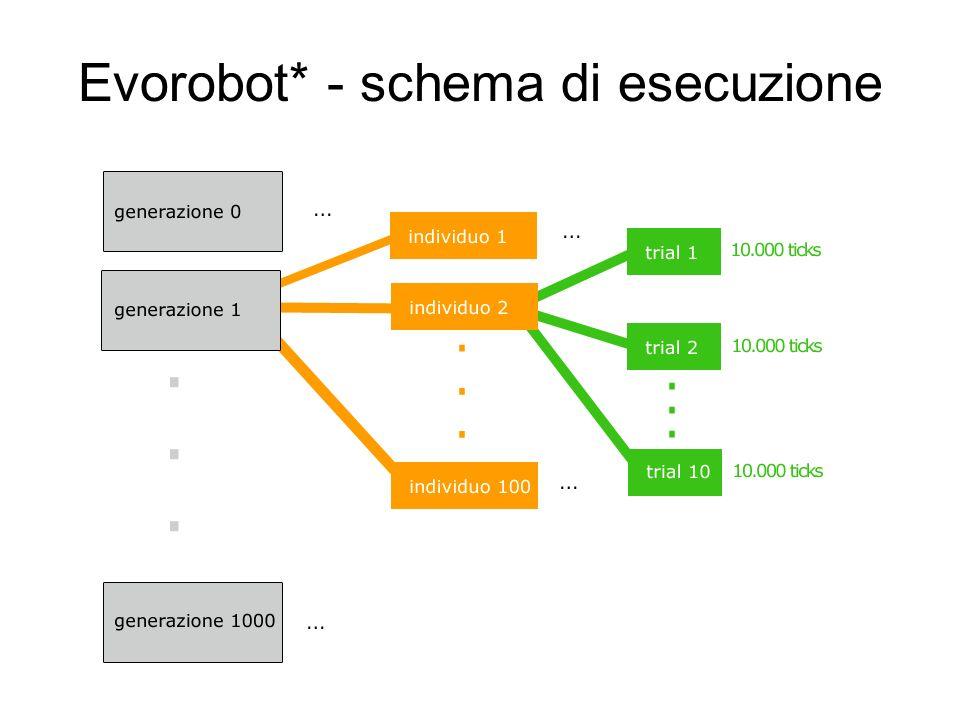 Evorobot* - schema di esecuzione