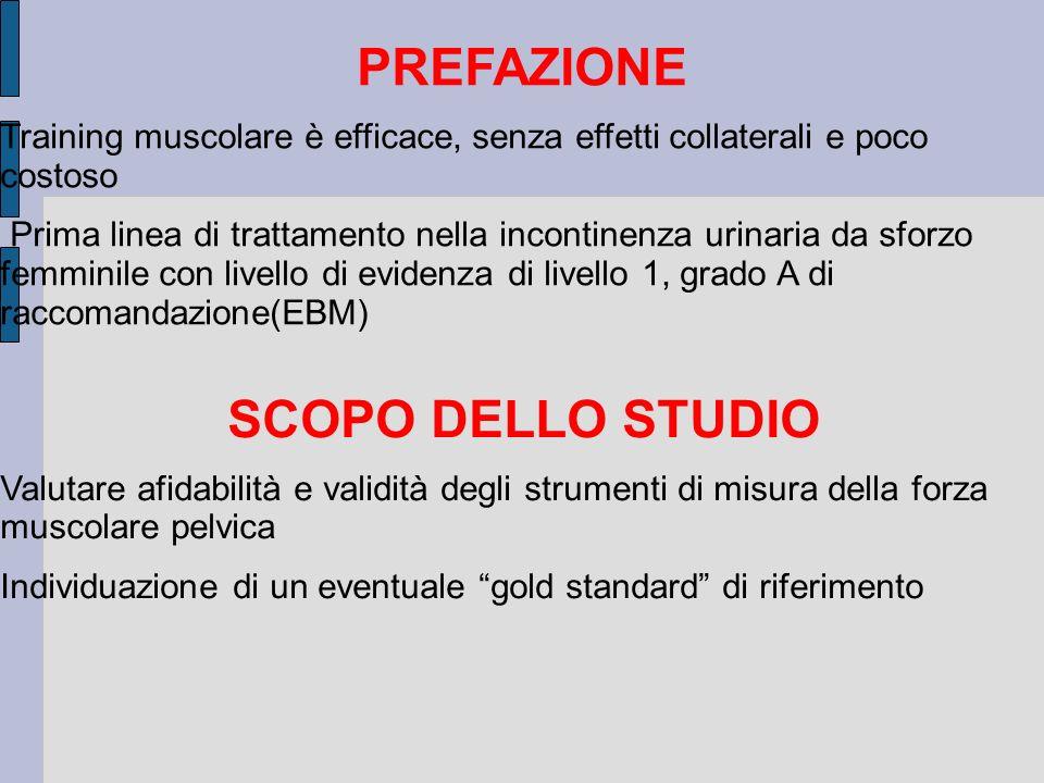 PREFAZIONE SCOPO DELLO STUDIO