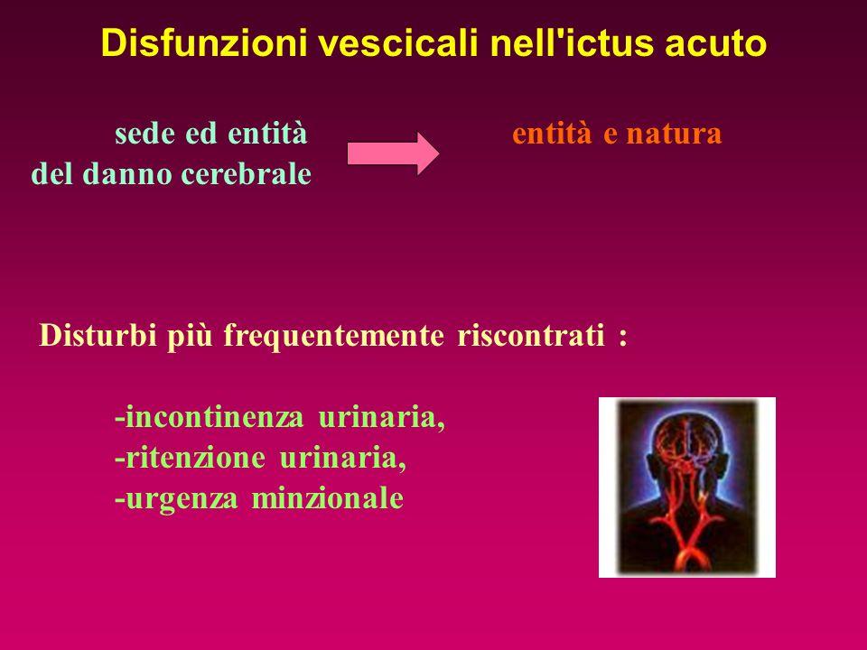 Disfunzioni vescicali nell ictus acuto