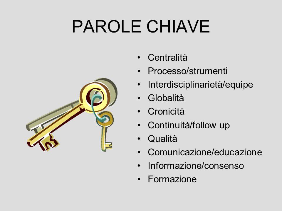 PAROLE CHIAVE Centralità Processo/strumenti