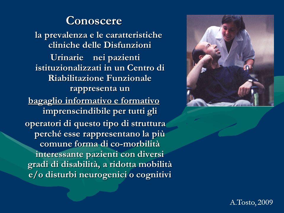 Conoscere la prevalenza e le caratteristiche cliniche delle Disfunzioni.