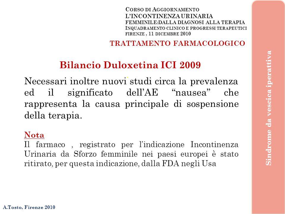 Bilancio Duloxetina ICI 2009