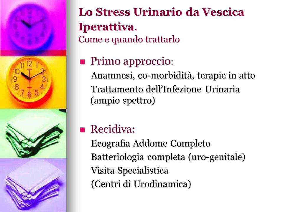 Lo Stress Urinario da Vescica Iperattiva. Come e quando trattarlo