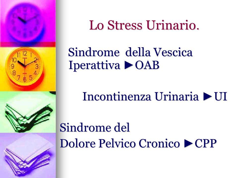 Lo Stress Urinario. Sindrome della Vescica Iperattiva ►OAB