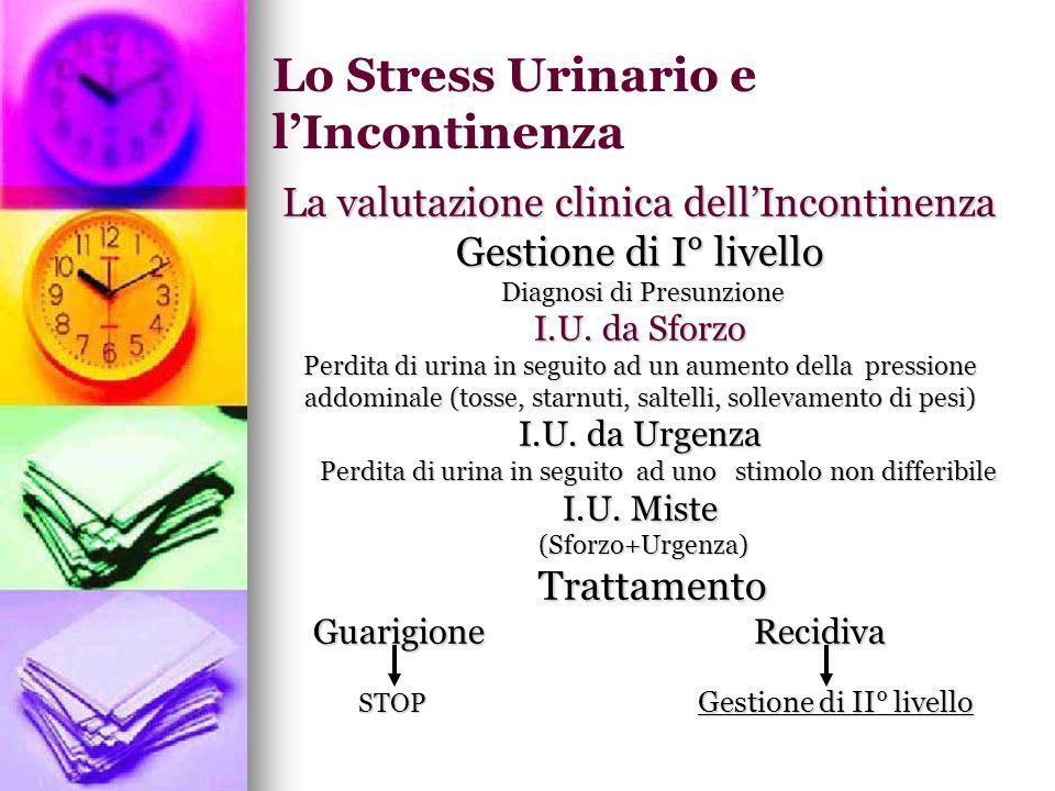 Lo Stress Urinario e l'Incontinenza