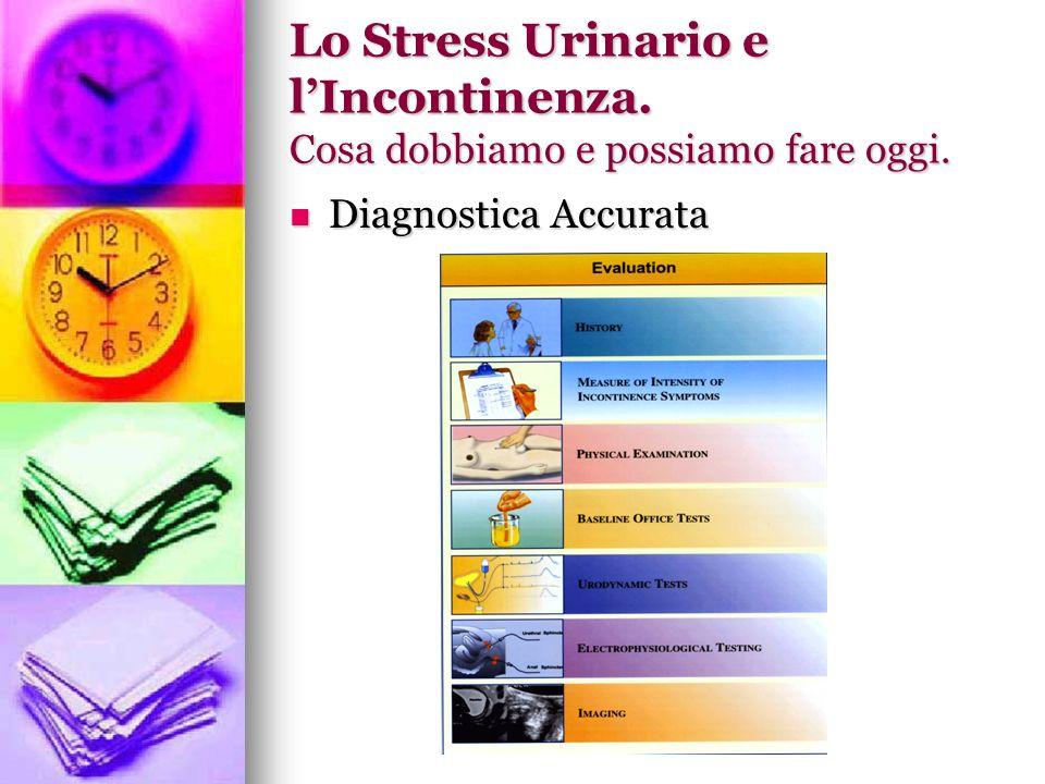 Lo Stress Urinario e l'Incontinenza. Cosa dobbiamo e possiamo fare oggi.