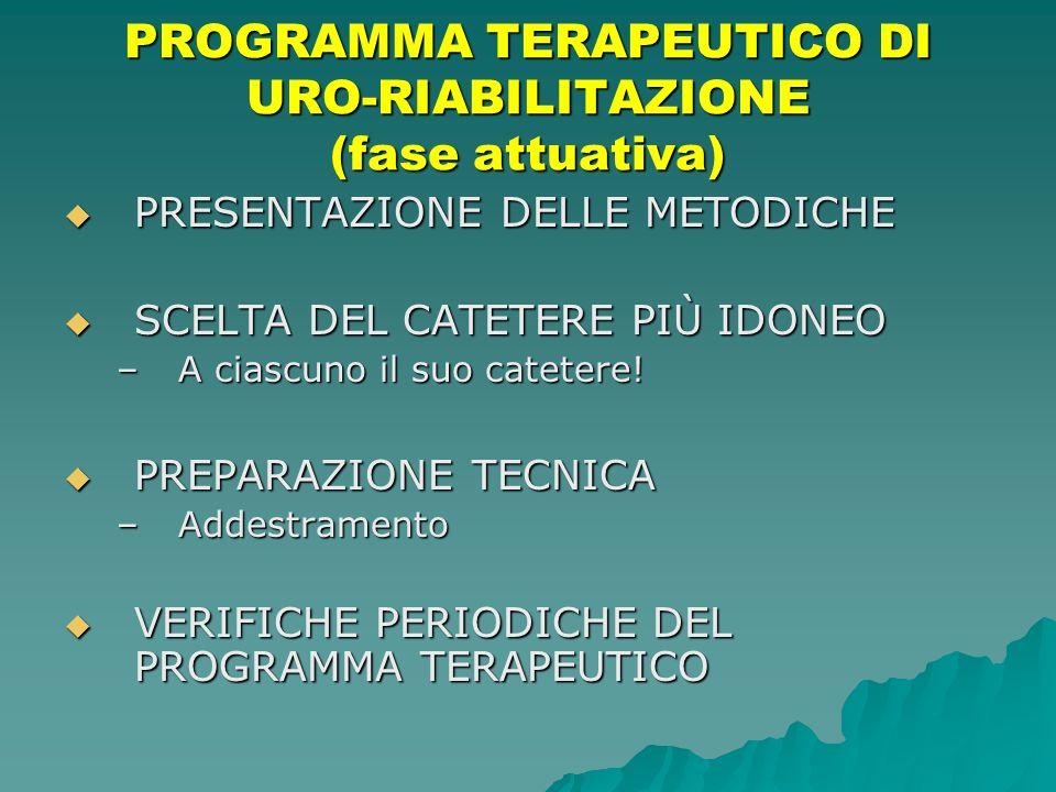 PROGRAMMA TERAPEUTICO DI URO-RIABILITAZIONE (fase attuativa)