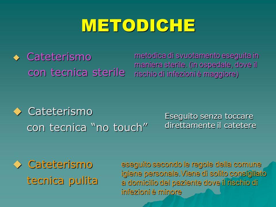 METODICHE Cateterismo con tecnica sterile con tecnica no touch