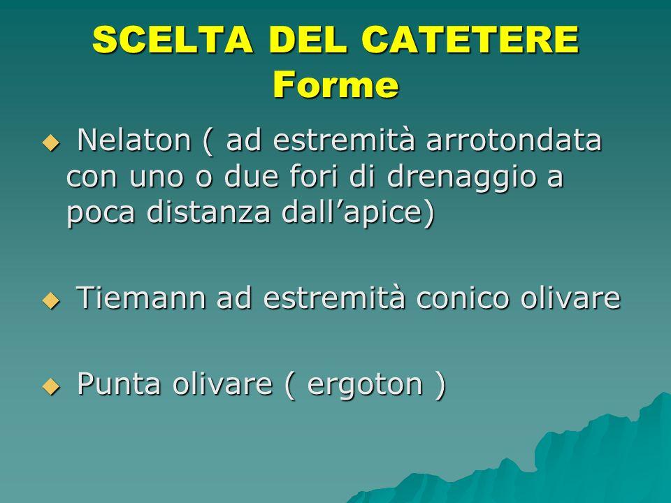 SCELTA DEL CATETERE Forme
