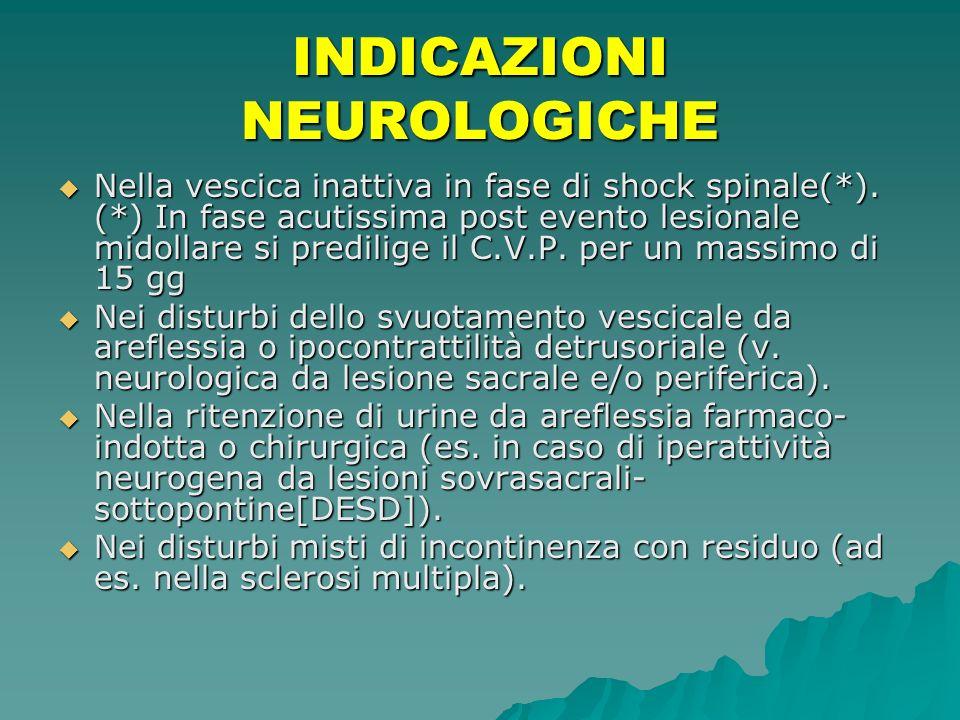 INDICAZIONI NEUROLOGICHE