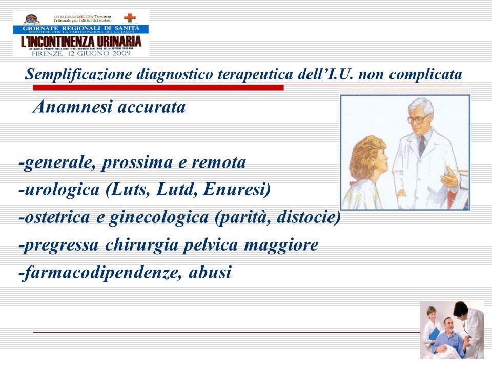 Semplificazione diagnostico terapeutica dell'I.U. non complicata