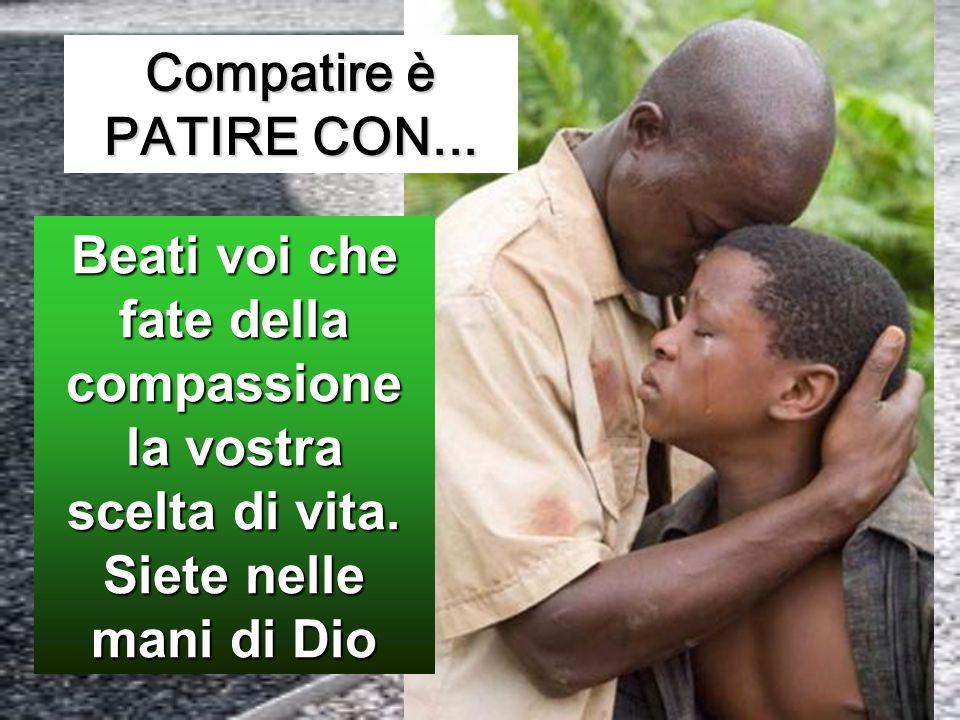 Compatire è PATIRE CON... Beati voi che fate della compassione la vostra scelta di vita.