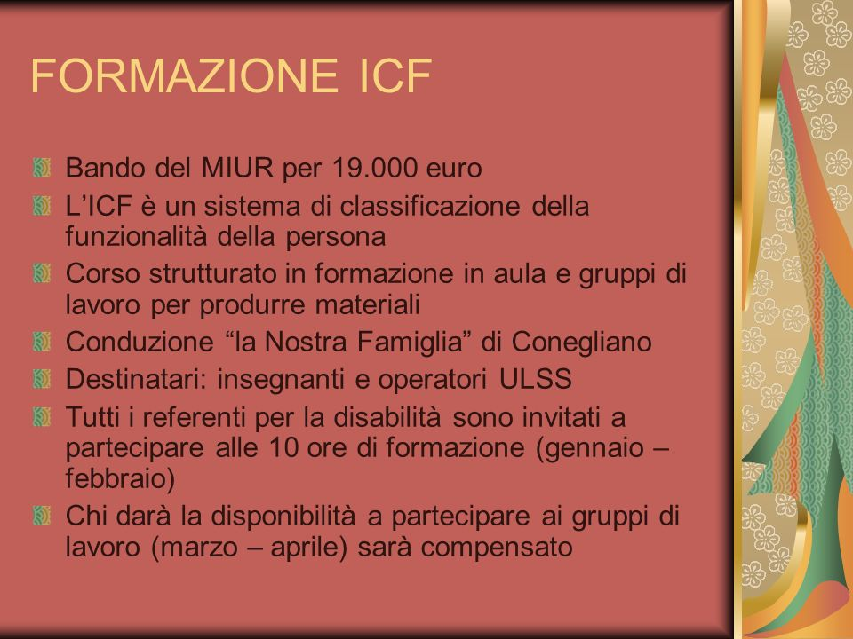 FORMAZIONE ICF Bando del MIUR per 19.000 euro