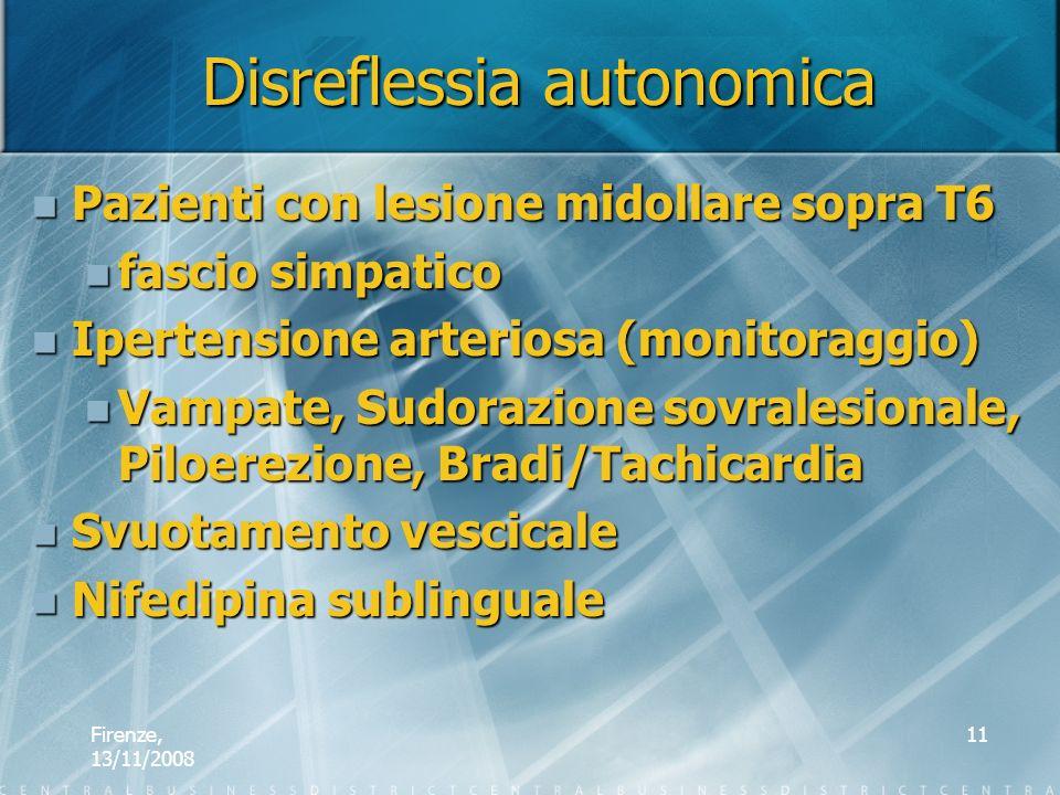 Disreflessia autonomica
