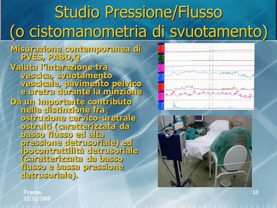 Studio Pressione/Flusso (o cistomanometria di svuotamento)