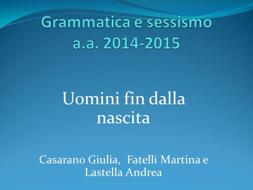 Grammatica e sessismo a.a. 2014-2015
