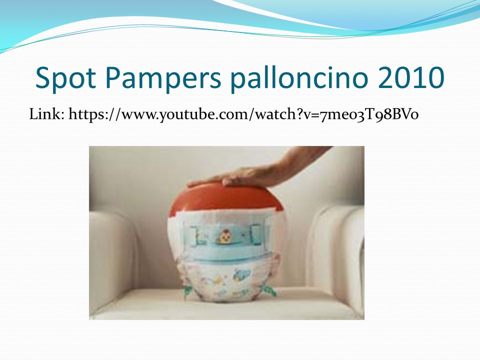 Spot Pampers palloncino 2010