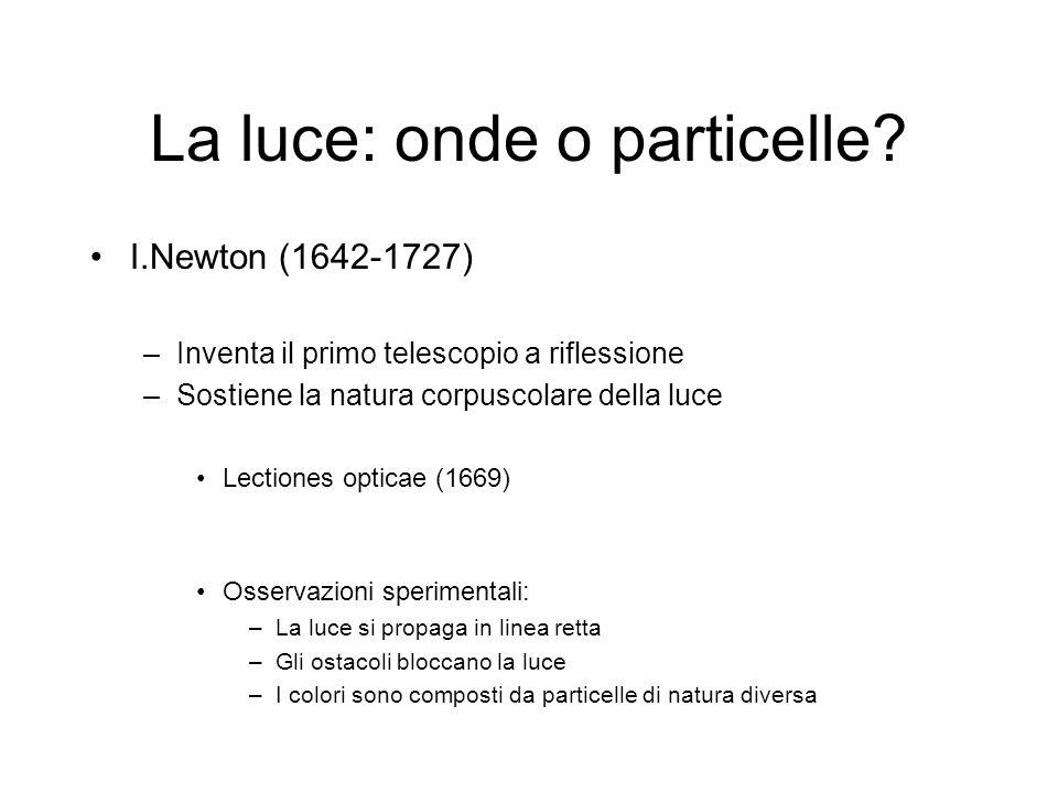 La luce: onde o particelle