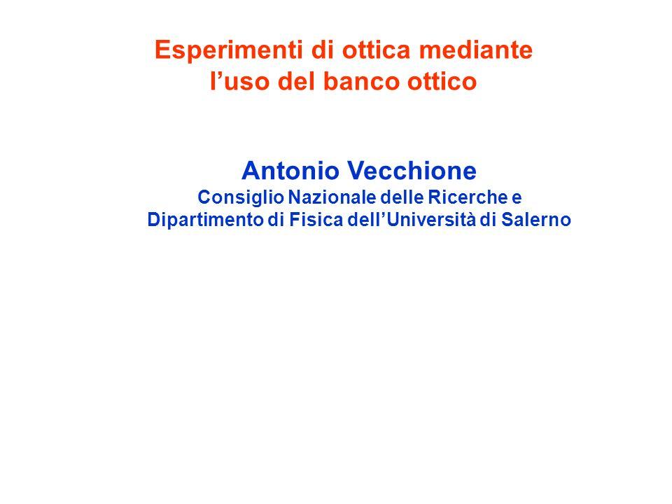 Esperimenti di ottica mediante l'uso del banco ottico
