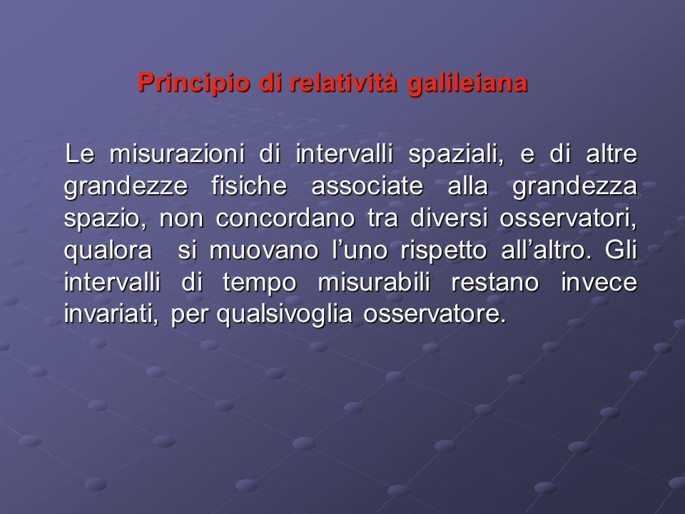 Principio di relatività galileiana