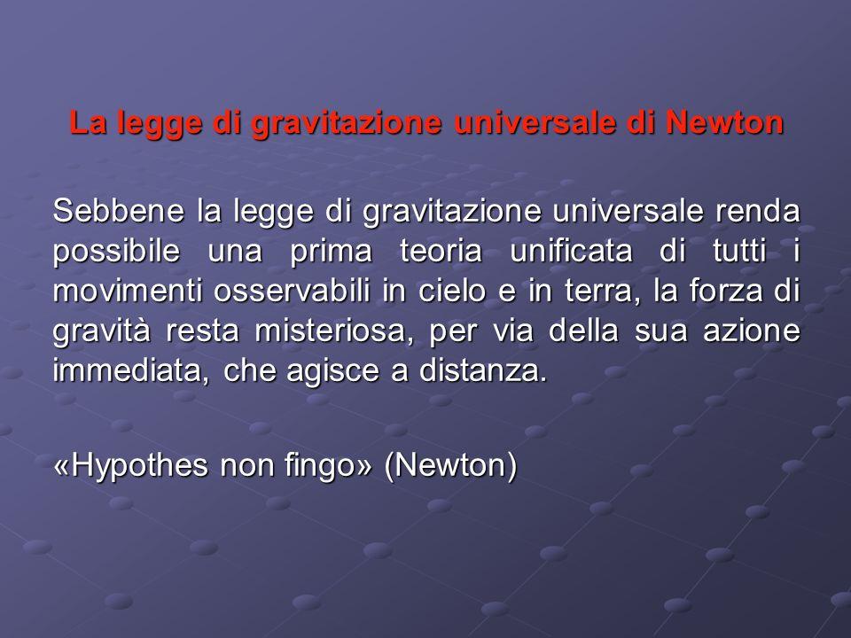 La legge di gravitazione universale di Newton