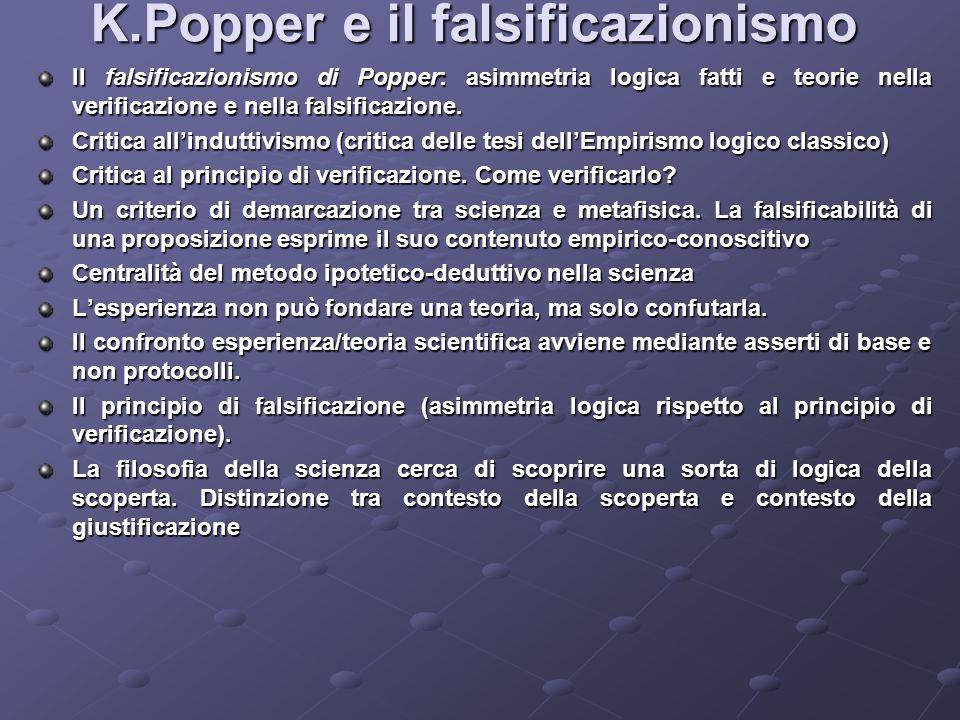 K.Popper e il falsificazionismo