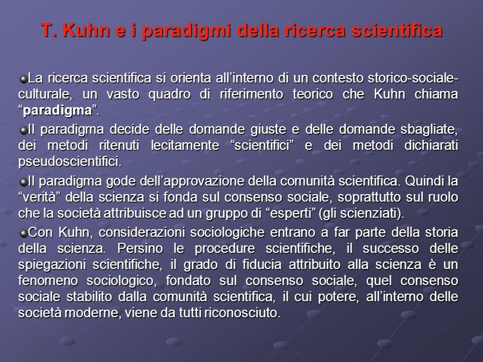 T. Kuhn e i paradigmi della ricerca scientifica