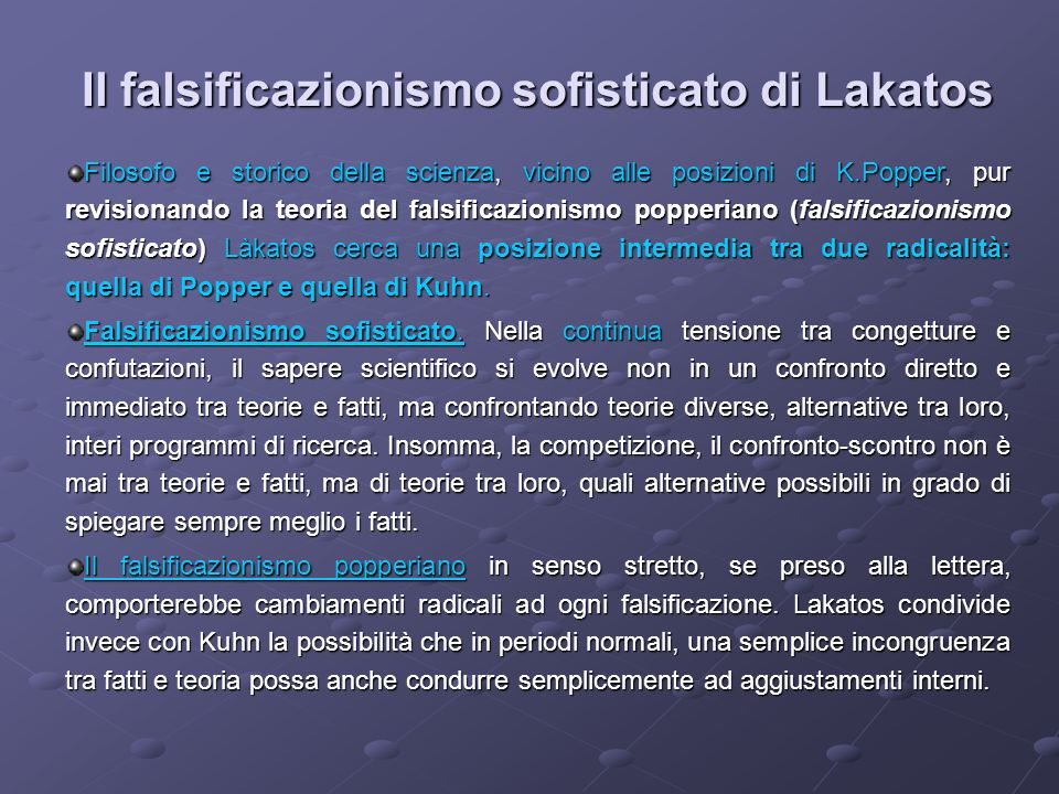Il falsificazionismo sofisticato di Lakatos
