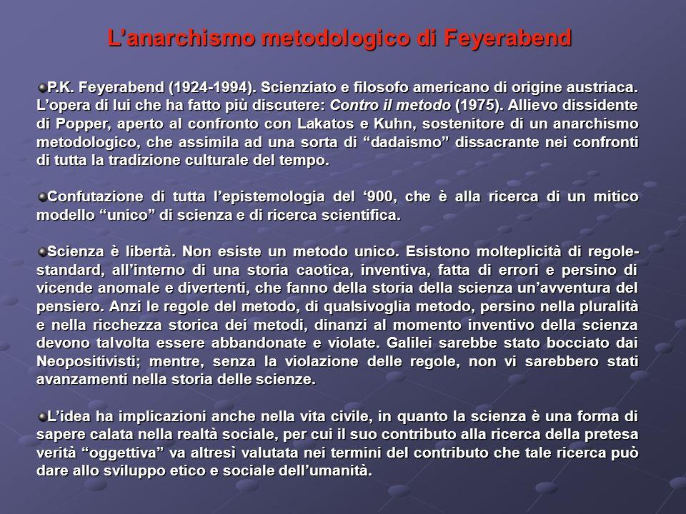 L'anarchismo metodologico di Feyerabend