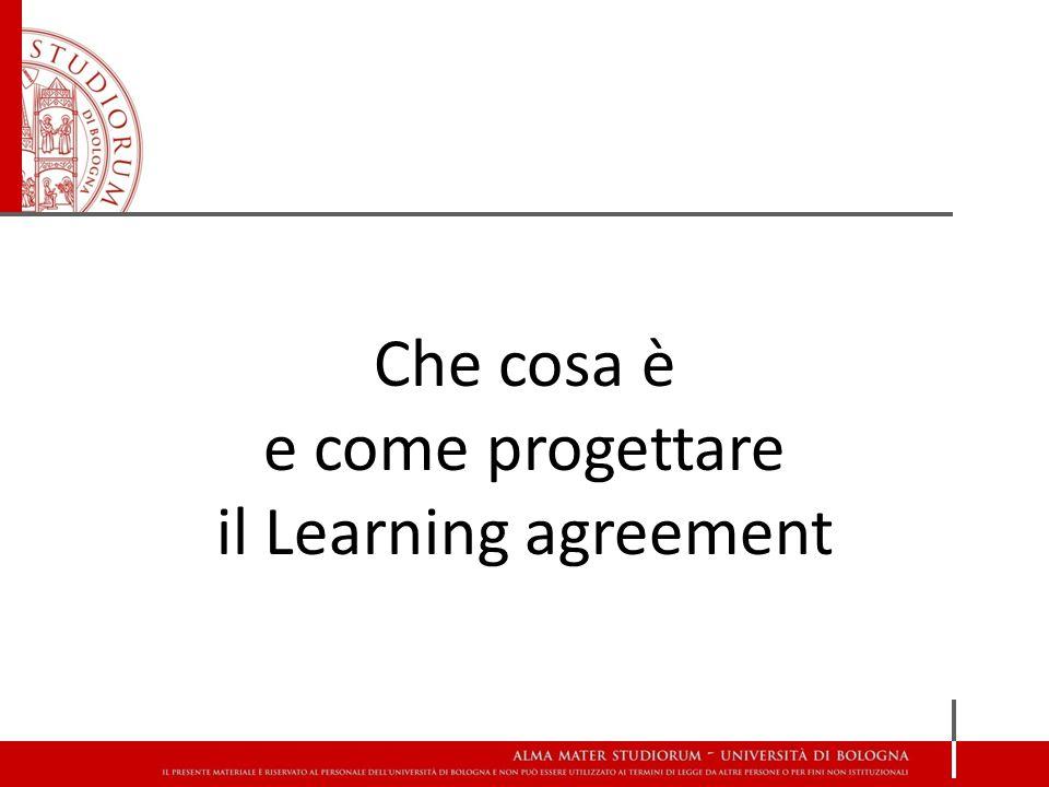 Che cosa è e come progettare il Learning agreement