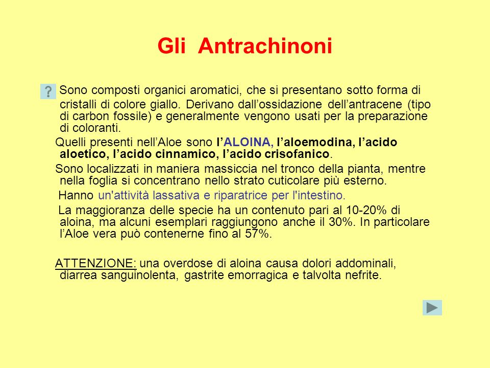 Gli Antrachinoni