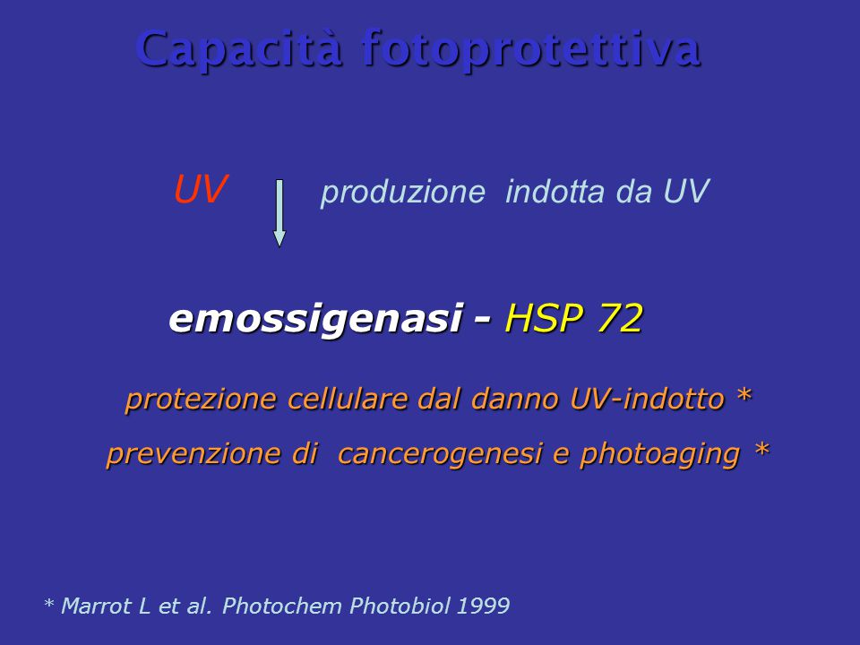 * Marrot L et al. Photochem Photobiol 1999