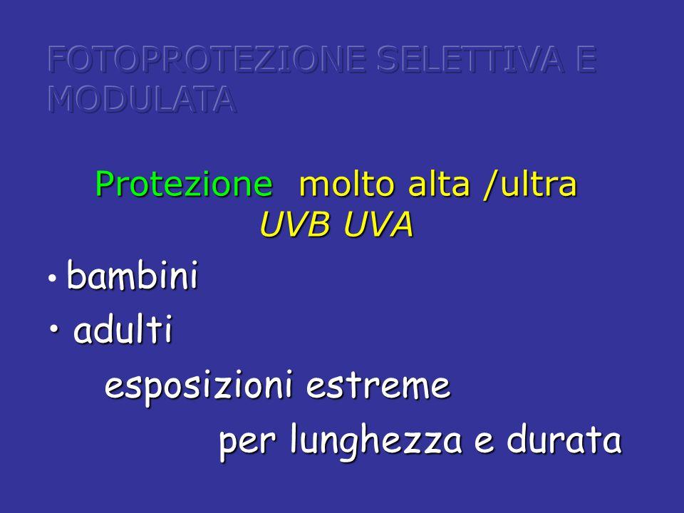 Protezione molto alta /ultra UVB UVA
