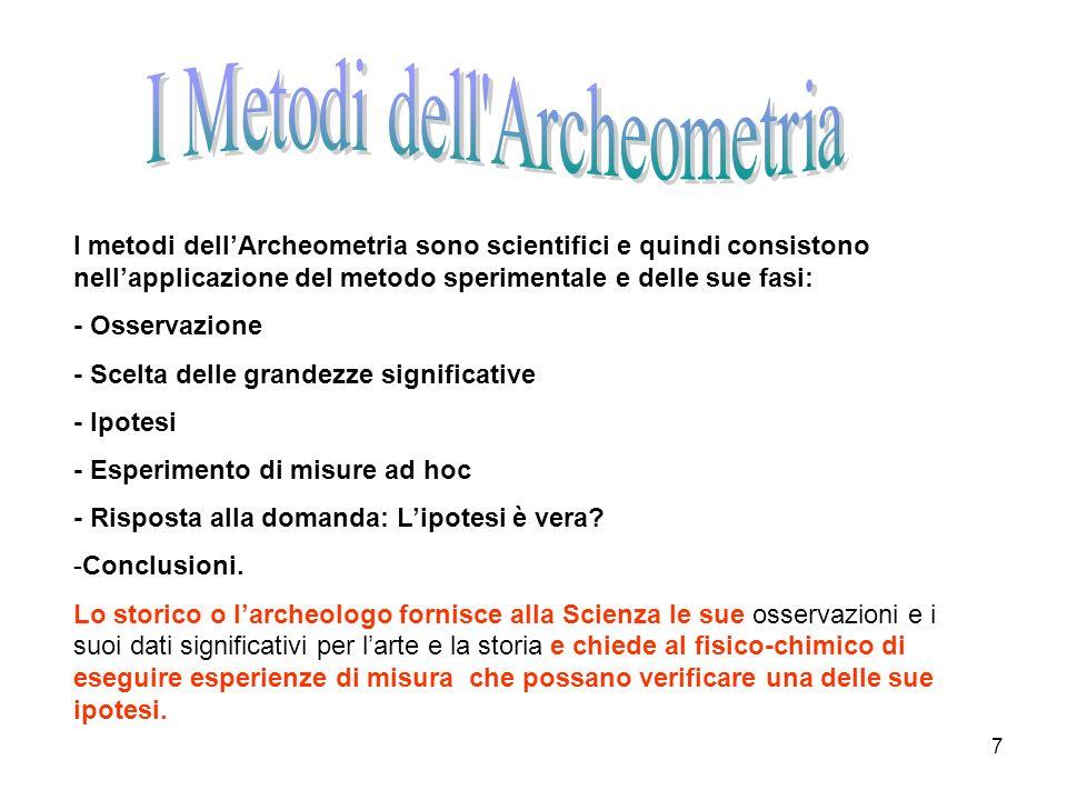 I Metodi dell Archeometria
