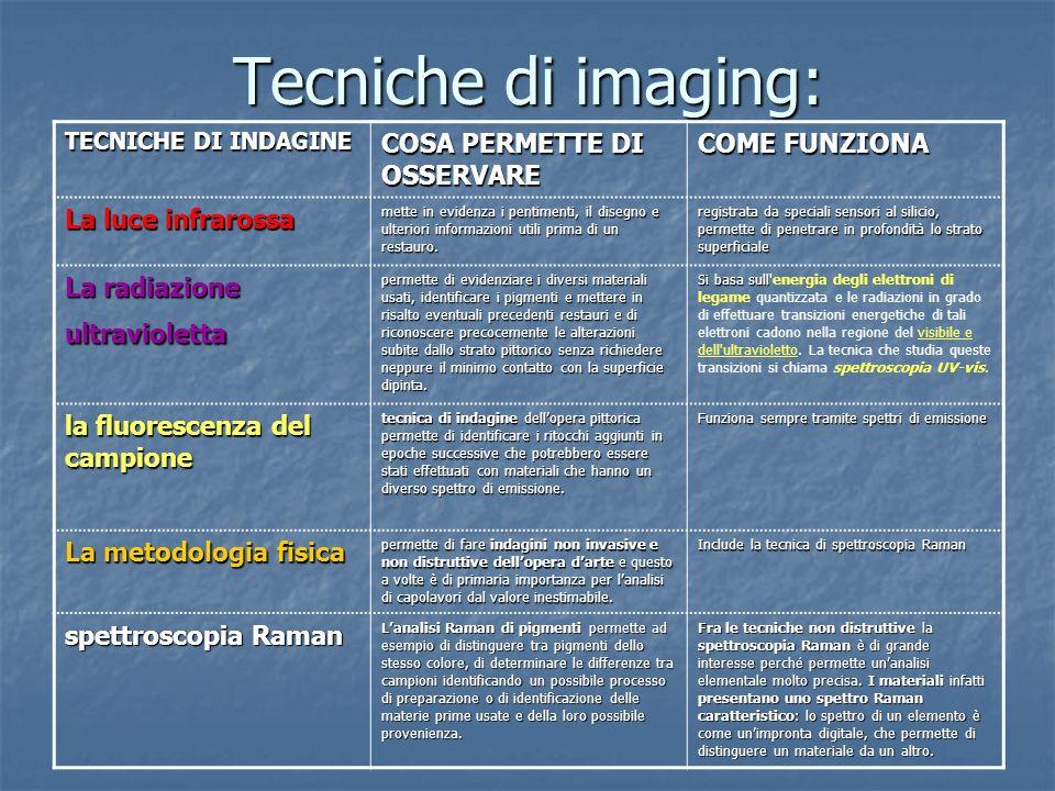 Tecniche di imaging: COSA PERMETTE DI OSSERVARE COME FUNZIONA