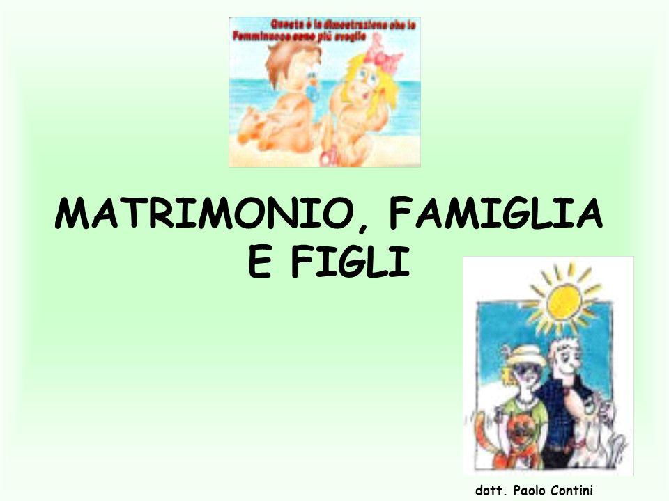 MATRIMONIO, FAMIGLIA E FIGLI