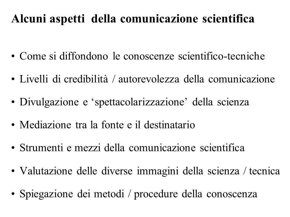 Alcuni aspetti della comunicazione scientifica