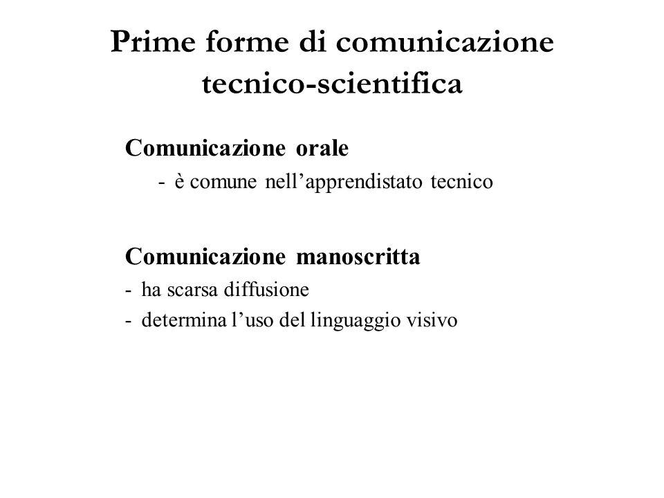 Prime forme di comunicazione tecnico-scientifica